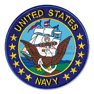 navy embroidered patches