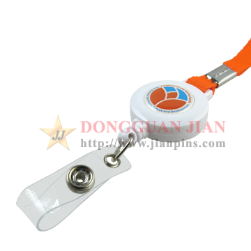 promotional lanyard with badge reel