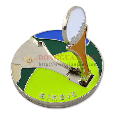 3-Layer Design Golf Markers With Enamel Colors