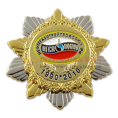 Two-Tone Military Badge Pins