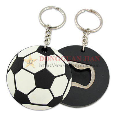 Personlized Custom football Bottle Opener keyring