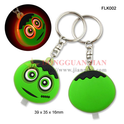 PVC Flashing Light Keychain